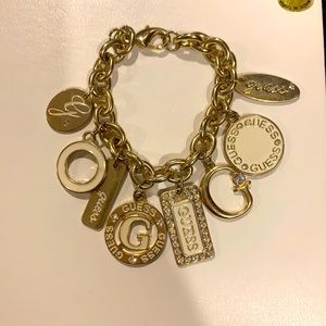 Guess Gold Charm Bracelet